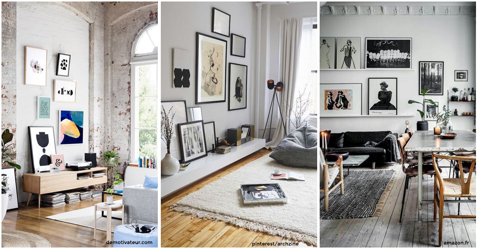 agencement cadres au mur ides de dco pour organiser vos photos et cadres sur vos murs. Black Bedroom Furniture Sets. Home Design Ideas