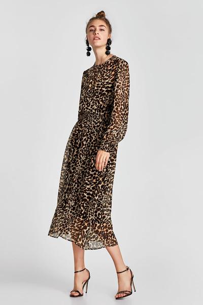 60f41091f9e Robe imprimée leopard Zara 59 u20ac95 ...