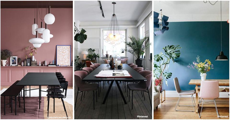 dans votre salle manger par petite touche sur quelques fauteuils ou carrment en ambiance principale sur un mur associez de belles plantes vertes
