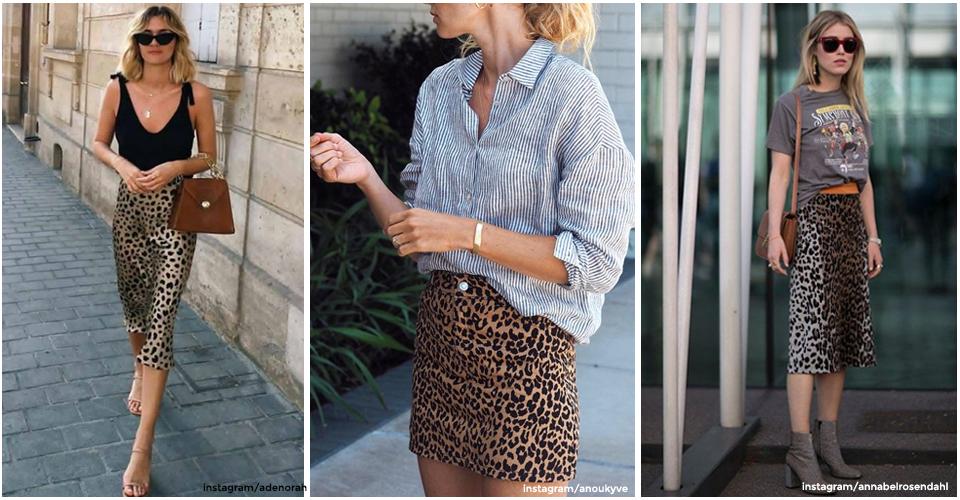 Comment porter la jupe léopard L'officieux